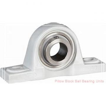 2.1875 in x 6.38 to 7.44 in x 2.59 in  Dodge P2BSXRB203 Pillow Block Ball Bearing Units