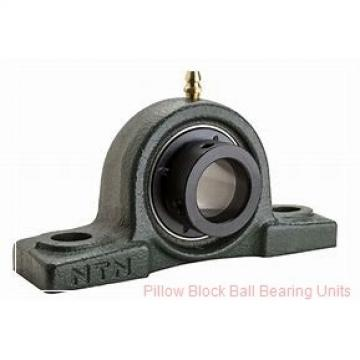 2.1875 in x 6.38 to 7.44 in x 2.22 in  Dodge P2BSCB203 Pillow Block Ball Bearing Units